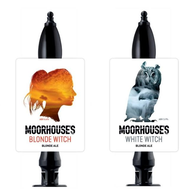BLONDE WITCH 4.4% / SPELLBINDING, TANTALISING, SHE SPINS HER GOLDEN CHARMS AND WHISPERS HER HAUNTING SIREN CALL, LIKE A SHINING BEACON. • • WHITE WITCH 3.9% / SOARING OVER THE DARK FOREST OF PENDLE, THE WHITE WITCH TRANSFORMS INTO A WHITE OWL, GUARDIAN OF ALL SHE SURVEYS.